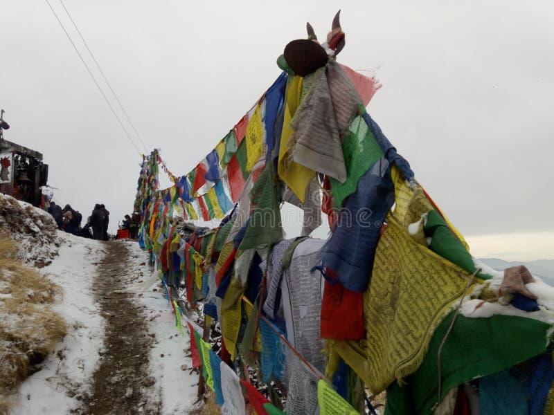 尼泊尔令人敬畏的地方和平  库存图片