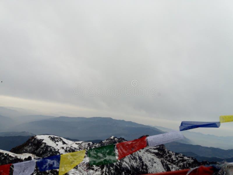 尼泊尔令人敬畏的地方和平  免版税库存照片
