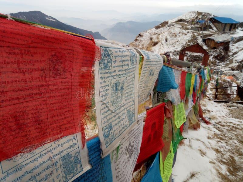 尼泊尔令人敬畏的地方和平  图库摄影