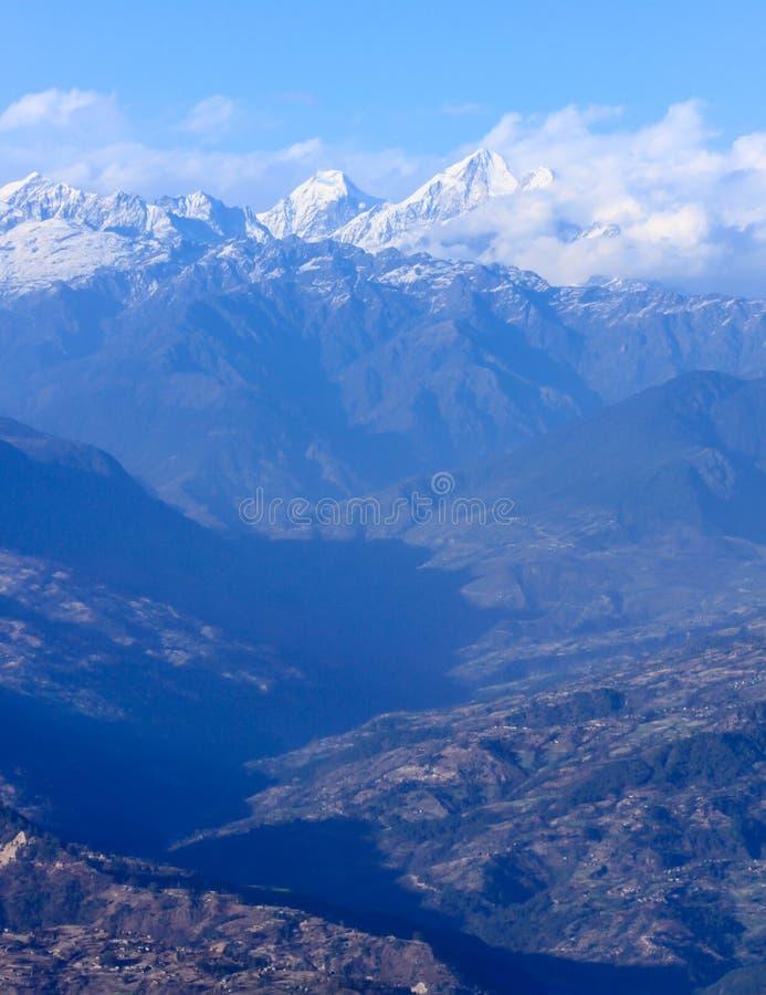 尼泊尔喜马拉雅山 库存照片