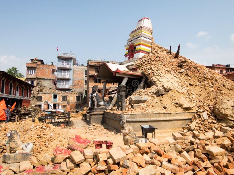 尼泊尔地震 免版税图库摄影