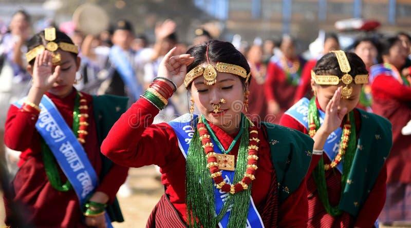 尼泊尔夫人` S 库存照片