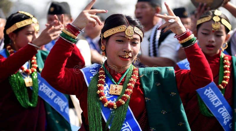尼泊尔夫人` S 免版税库存图片