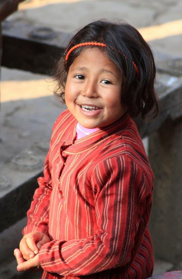 尼泊尔女孩 库存图片