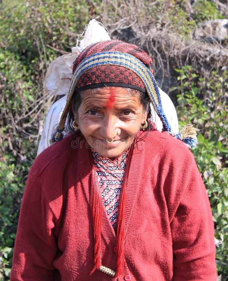 尼泊尔妇女 库存图片