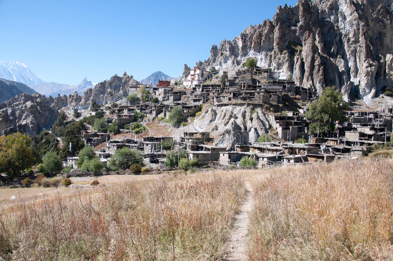 尼泊尔村庄 图库摄影