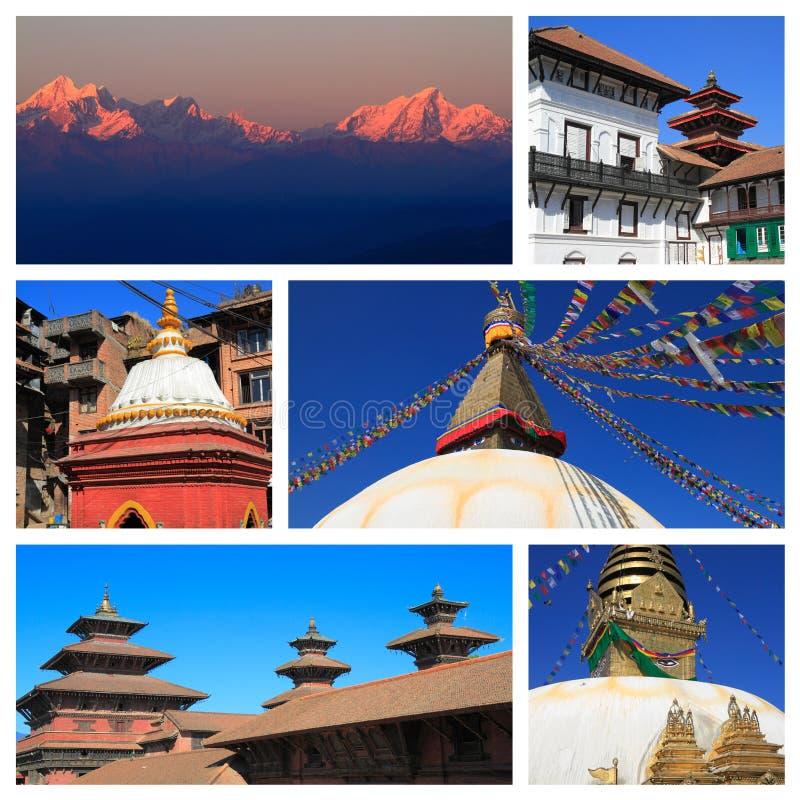 尼泊尔的印象 免版税库存图片
