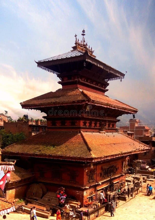 尼泊尔的历史寺庙 免版税库存图片