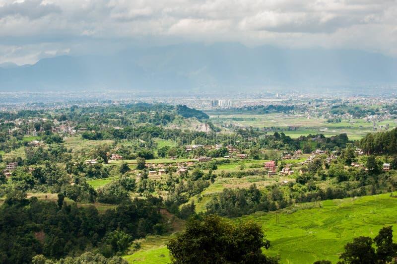 尼泊尔高视图 免版税图库摄影