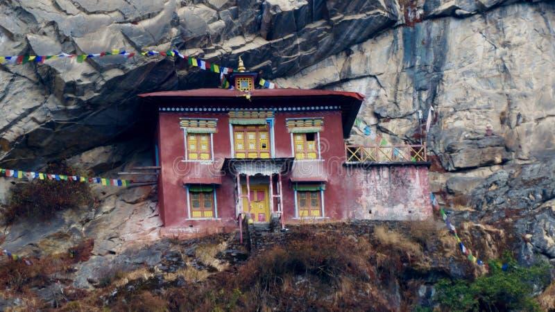 尼泊尔,美丽的历史建筑,对珠穆琅玛的方式 库存照片
