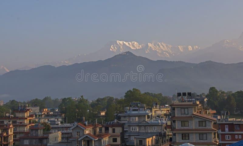 尼泊尔 Anapurna,博克拉 免版税库存图片