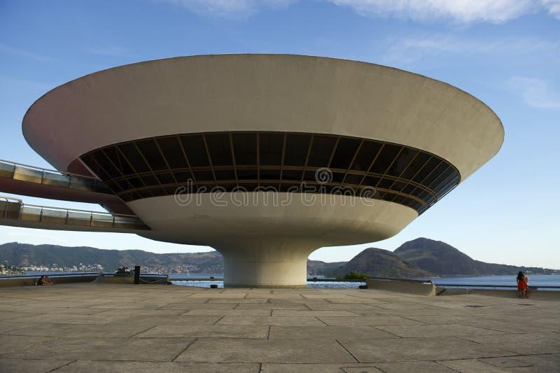 尼泰罗伊博物馆里约热内卢巴西 免版税图库摄影