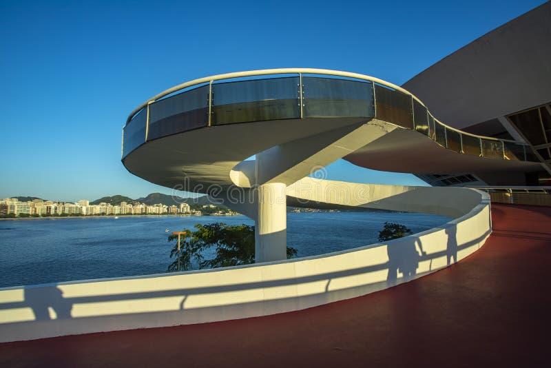 尼泰罗伊当代艺术博物馆  建筑师奥斯卡・尼迈耶 库存图片