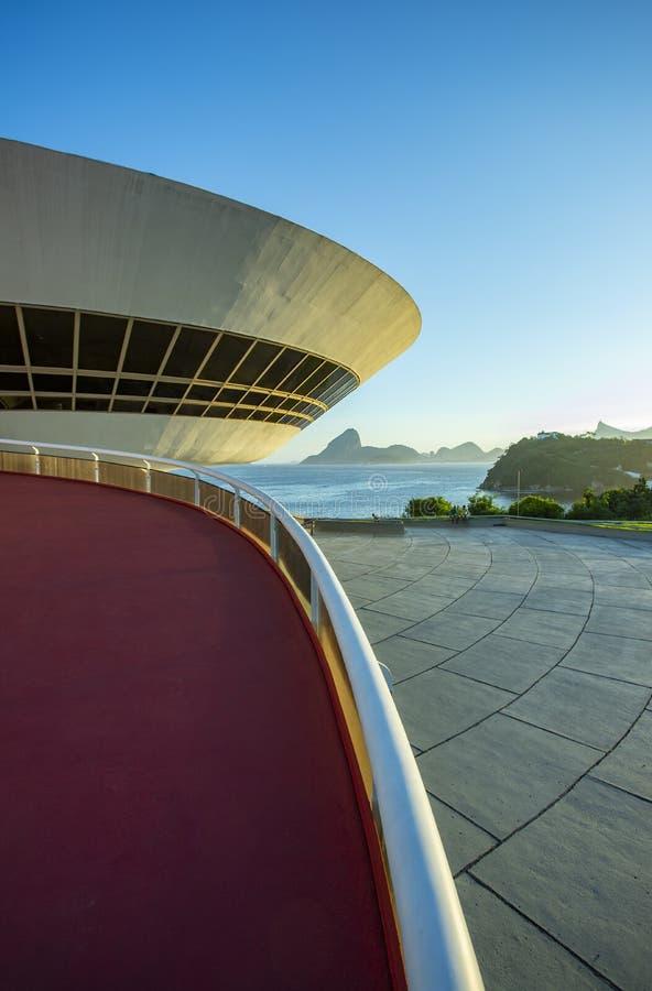 尼泰罗伊当代艺术博物馆  建筑师奥斯卡・尼迈耶 免版税库存图片