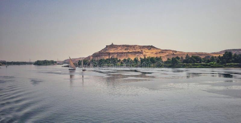 尼罗河在阿斯旺 免版税库存图片