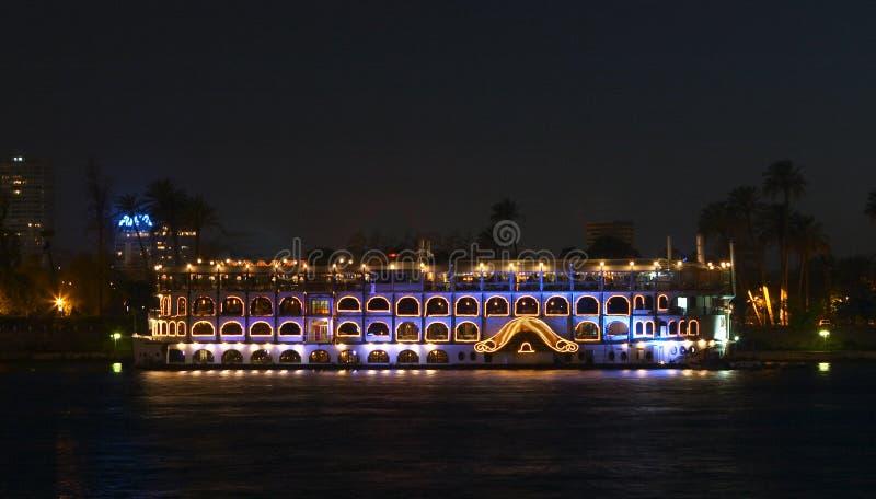 尼罗河船 库存图片