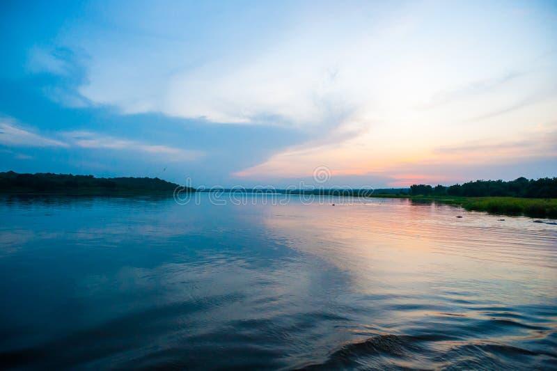 尼罗河,乌干达,位于东部中心位置的非洲 免版税图库摄影