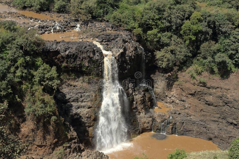 尼罗瀑布Tisissat在埃塞俄比亚 免版税库存照片