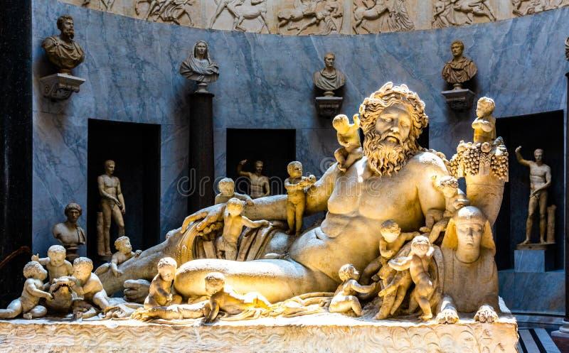 尼罗省上帝雕象在梵蒂冈博物馆,梵蒂冈 图库摄影