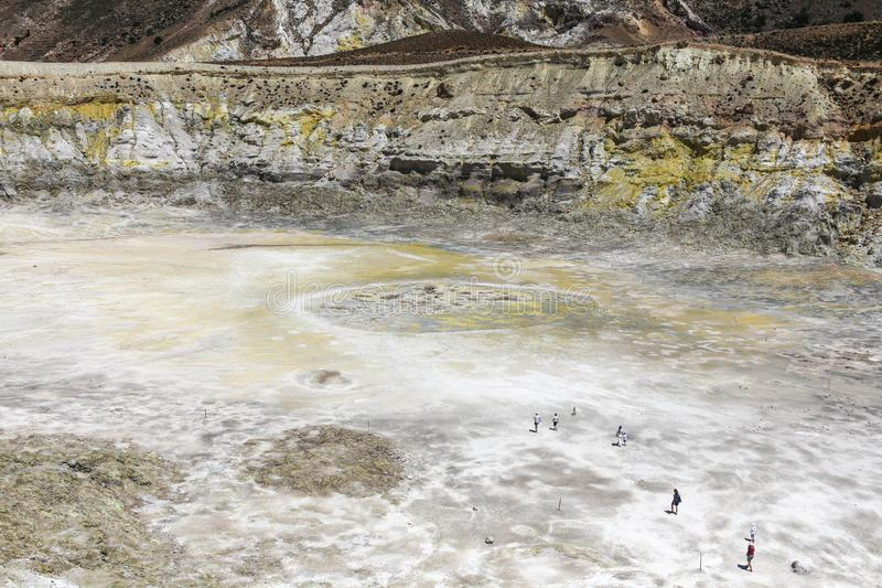 尼西罗斯岛火山希腊海岛 免版税库存照片