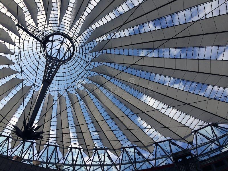 索尼集中,柏林,德国 库存照片
