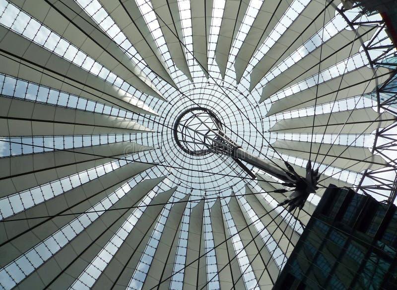 索尼集中,柏林,德国 免版税库存照片