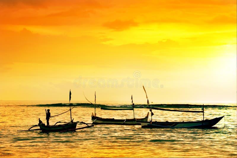 局部小船在巴厘岛 免版税图库摄影