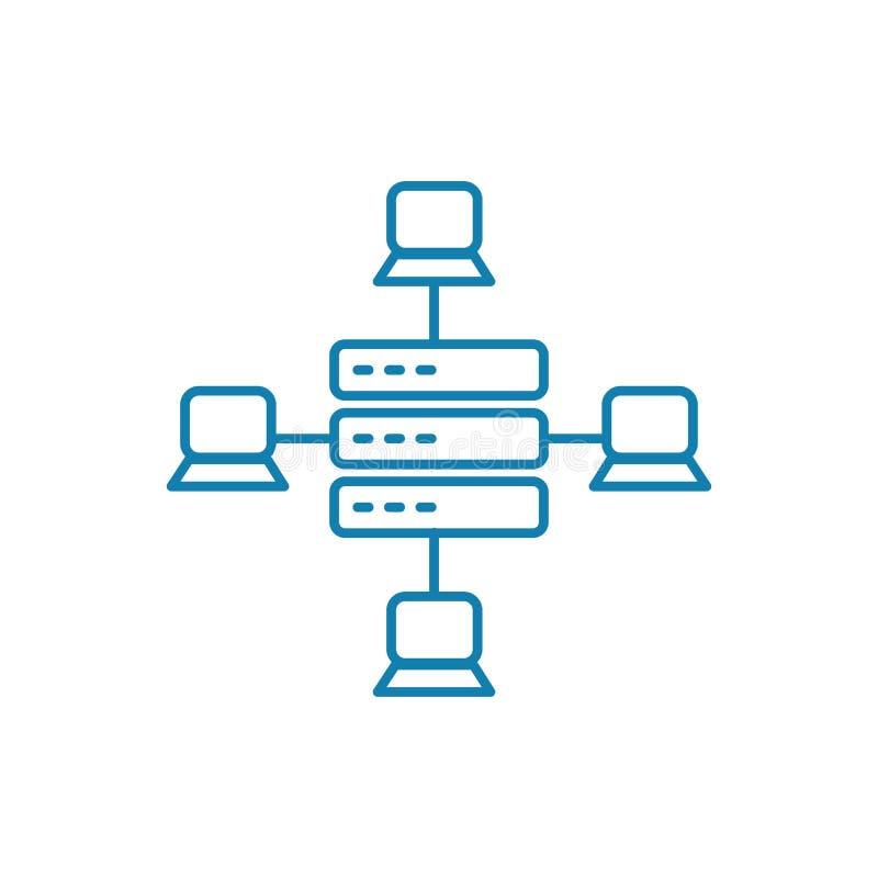 局部网络线性象概念 局部网络线传染媒介标志,标志,例证 皇族释放例证