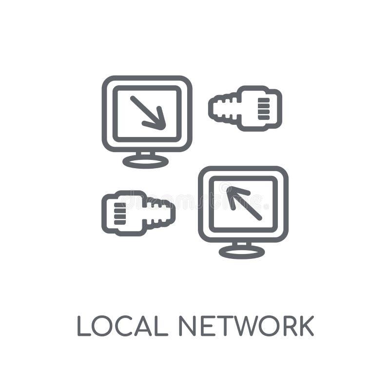 局部网络线性象 现代概述局部网络商标骗局 向量例证