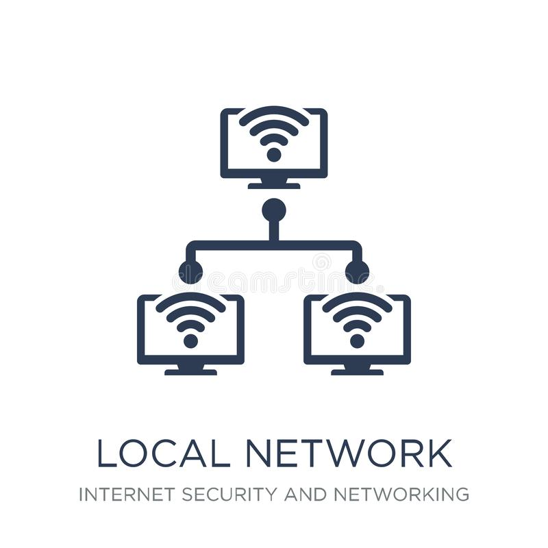 局部网络象 在whi的时髦平的传染媒介局部网络象 库存例证