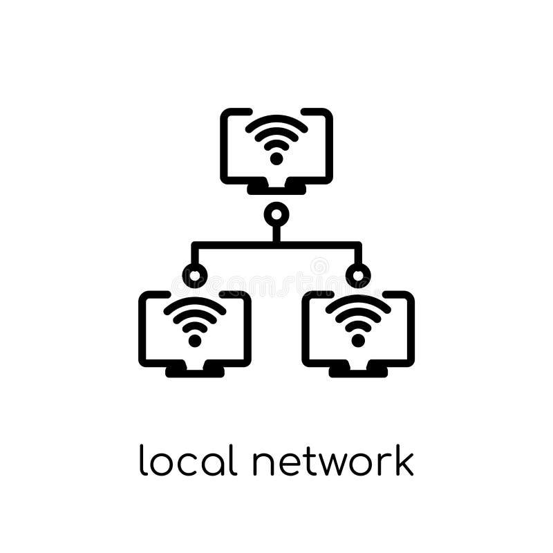 局部网络象 时髦现代平的线性传染媒介地方netwo 向量例证