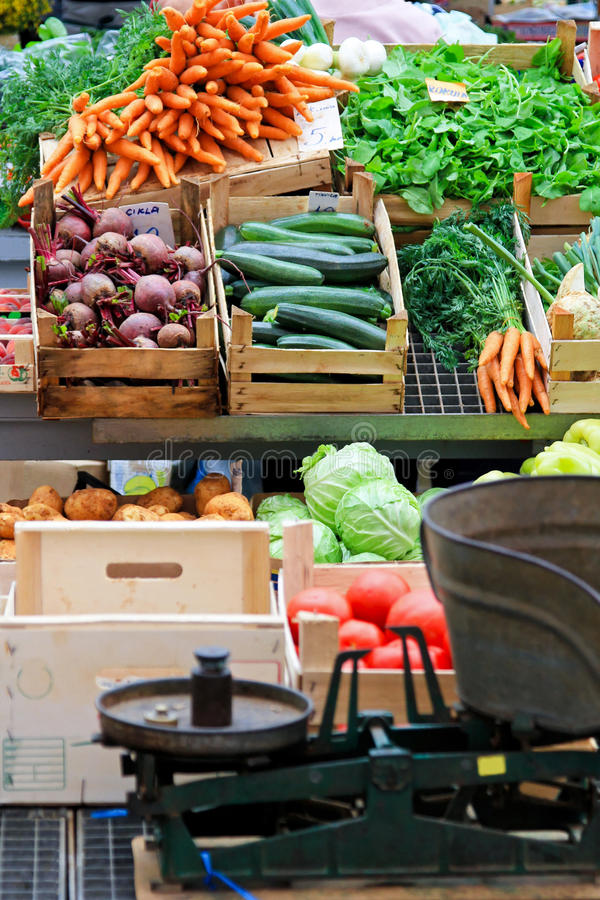 局部蔬菜 库存照片