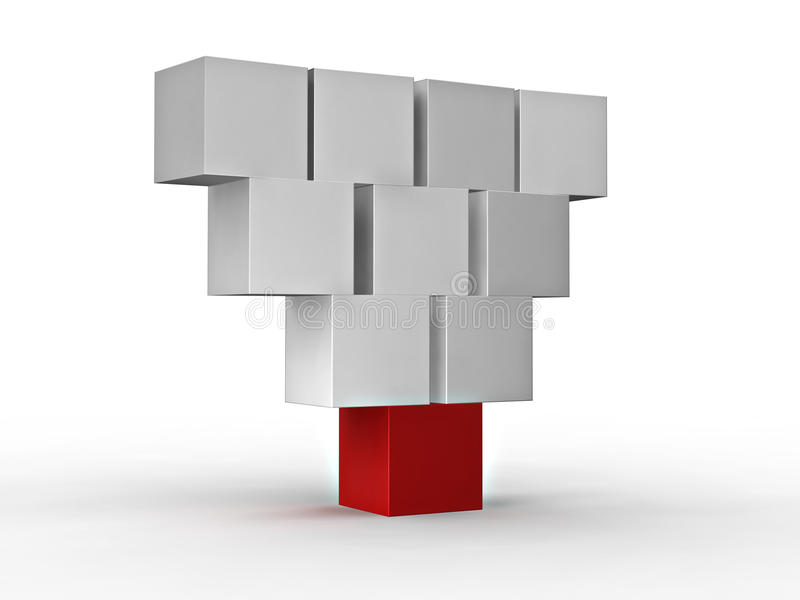 层次结构 库存例证