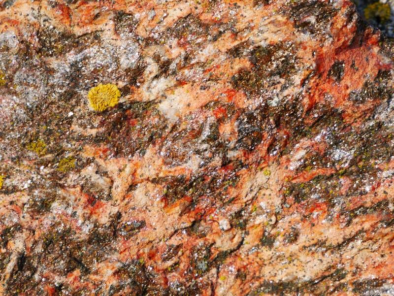 层状五颜六色的岩石样式- Panonia肋的山 库存图片