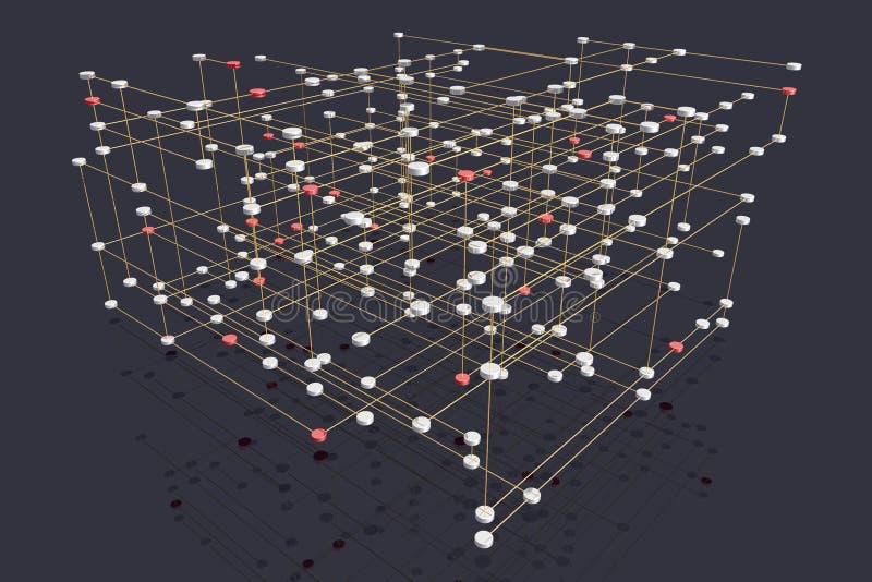 层状多网络 皇族释放例证