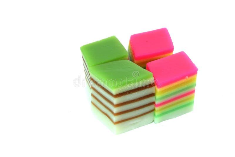 层状的蛋糕五颜六色 库存照片