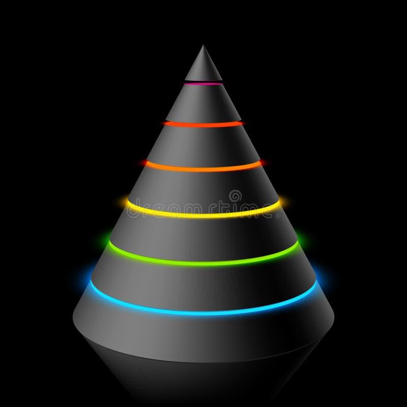 层状的锥体 向量例证