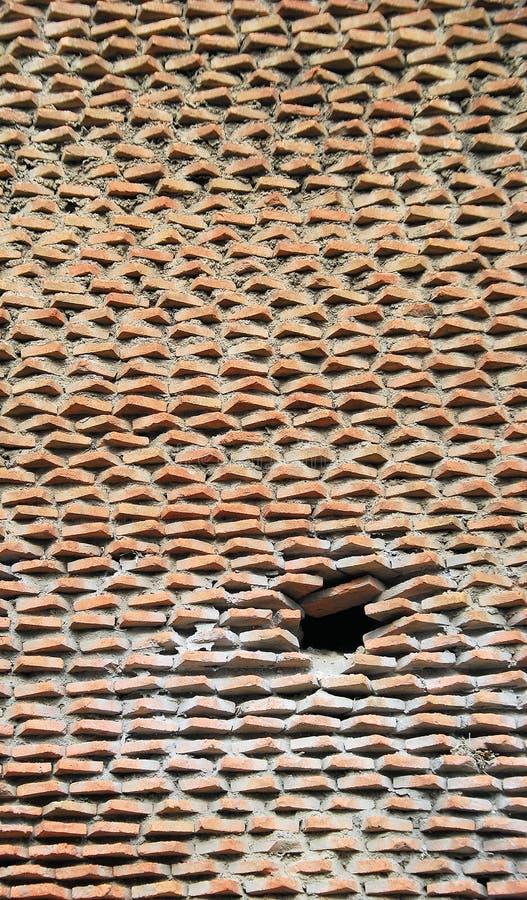 层状砖墙架 免版税库存图片