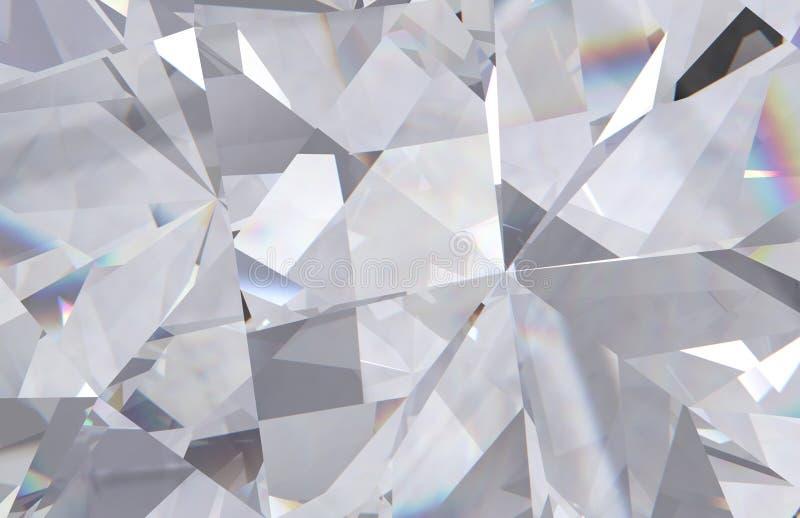 层状纹理三角金刚石或水晶形状背景 3d翻译模型 向量例证