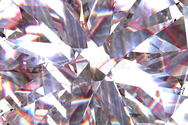 层状纹理三角金刚石或水晶塑造背景 3d翻译模型 库存照片