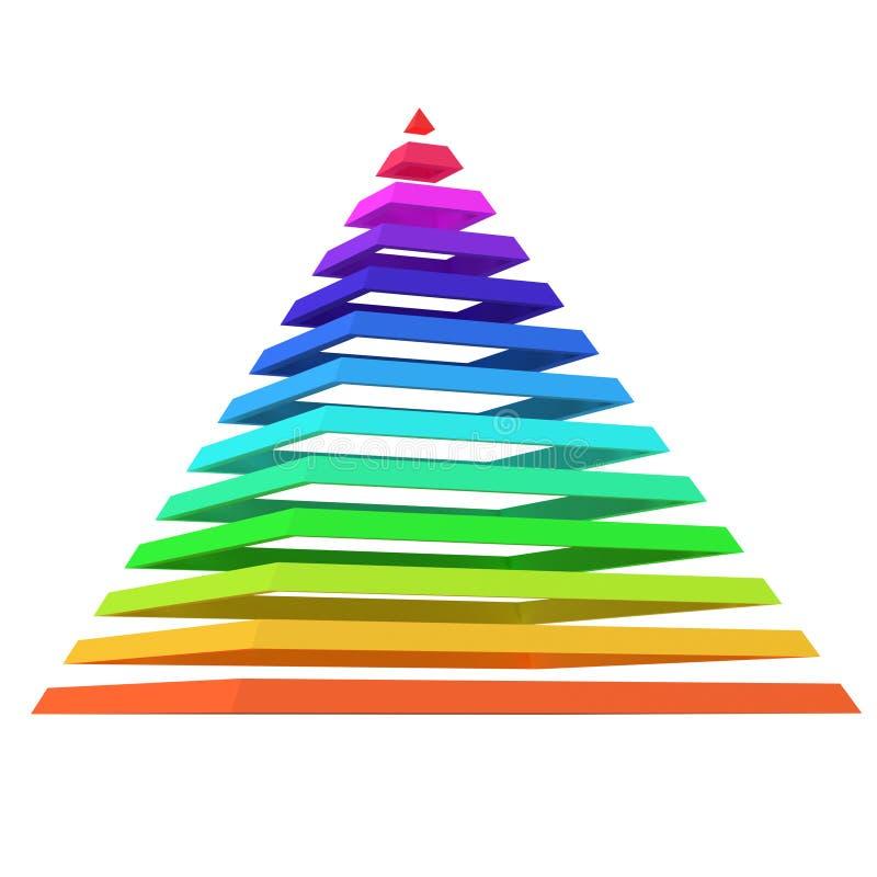 层状色的金字塔 皇族释放例证