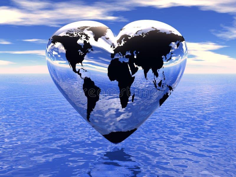 居住世界的爱 库存例证