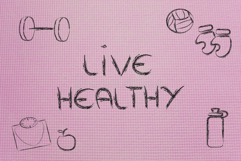 居住健康和适合的生活 皇族释放例证
