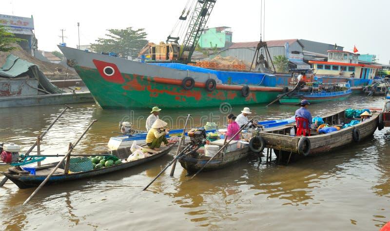 居住在湄公河 越南 免版税库存照片