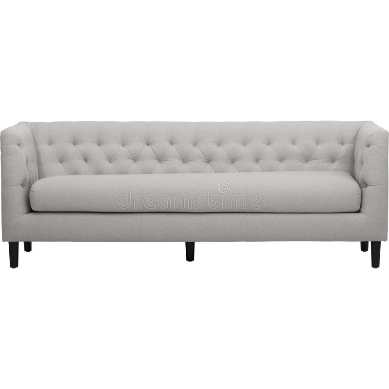 居住家罗斯基勒3 Seater最低纲领派沙发床,Maeva 3 Seater Clic Clac沙发床,Ronia舒适春天-一张舒适的沙发床 免版税库存照片