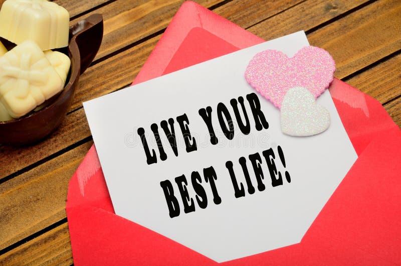 居住您的最佳的生活 库存图片