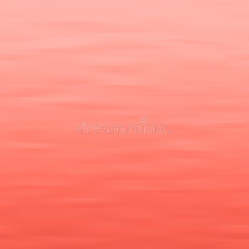 居住珊瑚-年2019波浪最小的背景的颜色 向量例证