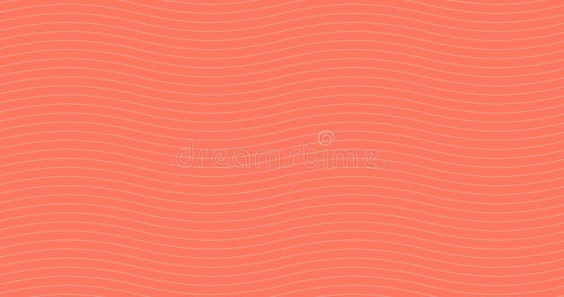 居住的珊瑚几何白色波浪无缝的样式 轻的收藏 抽象波浪织地不很细背景设计 ?? 向量例证