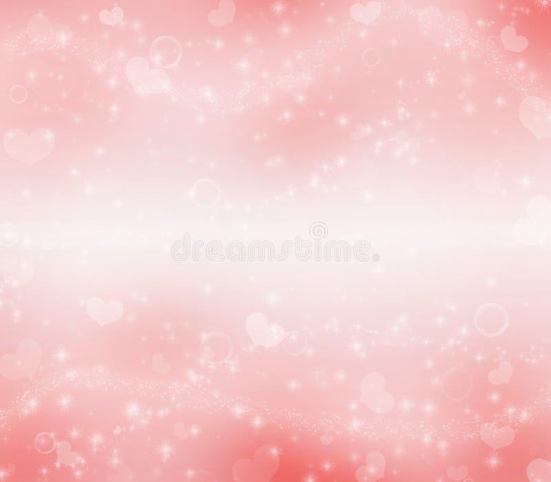 居住的珊瑚情人节魔术背景 库存例证