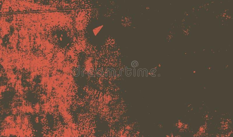 居住的珊瑚桃红色和棕色画笔冲程背景 库存例证